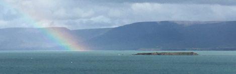 Rainbow over Skagafjorður.