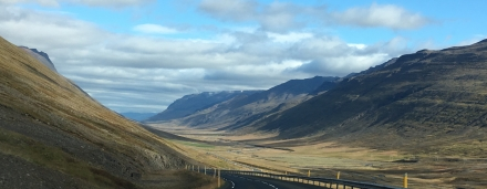 The road to Akureryi.