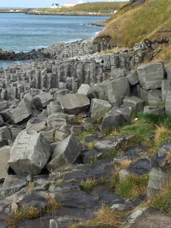 Basalt columns at Hofsós.