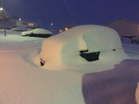 Yay, shoveling to unbury my car.