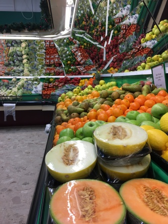 I am grateful for the selection of fresh fruits.