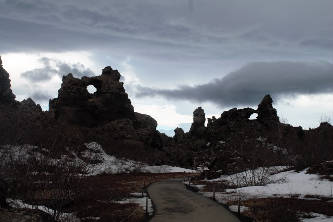 The lava formations of Dimmiborgir.